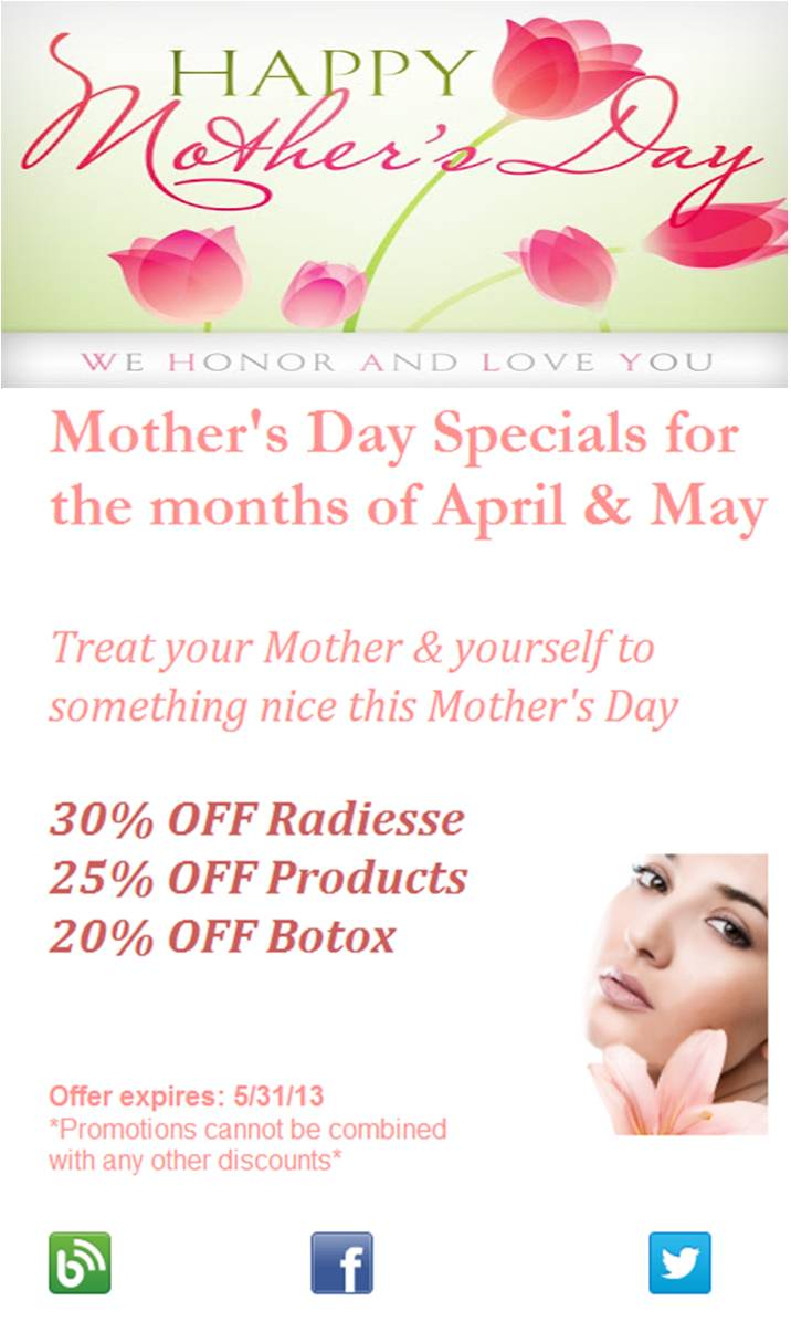 Mother's Day Specials | Leonard Hochstein, MD