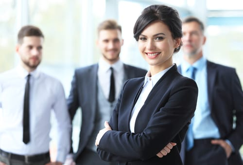 beautiful woman on the background of business people-img-blog